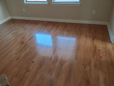 Repaired Wood Tile Flooring