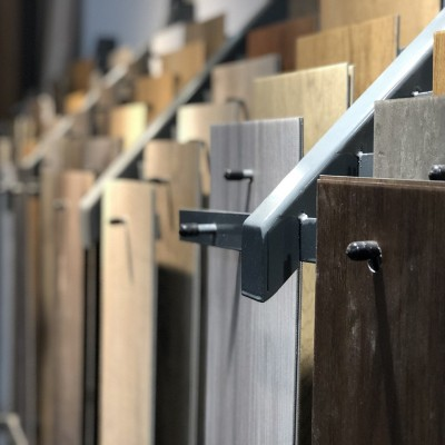 Wood laminate flooring planks
