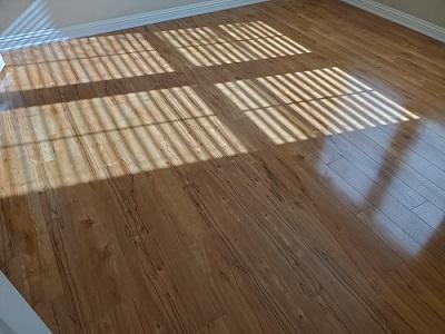 Installed Wood Tile Flooring